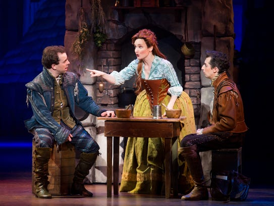 From left, Rob McClure as Nick Bottom, Maggie Lakis