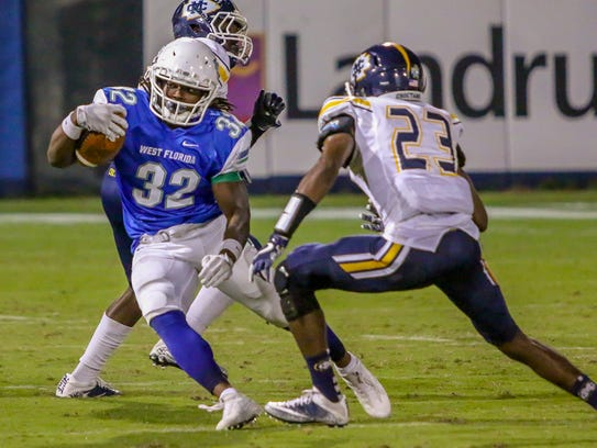 UWF running back Anthony Johnson, Jr. (32), a Pace