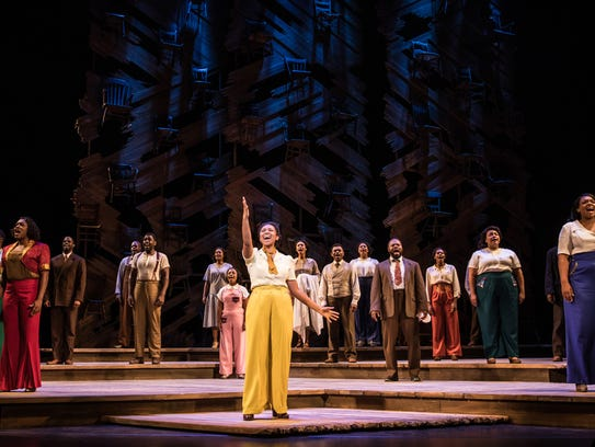"Adrianna Hicks rises to the challenge of Celie's complexity and the transformation she experiences in the production of ""The Color Purple"" at the Des Moines Civic Center."