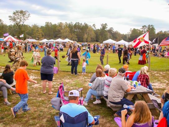 Hundreds of people enjoy the Santa Rosa County Creek