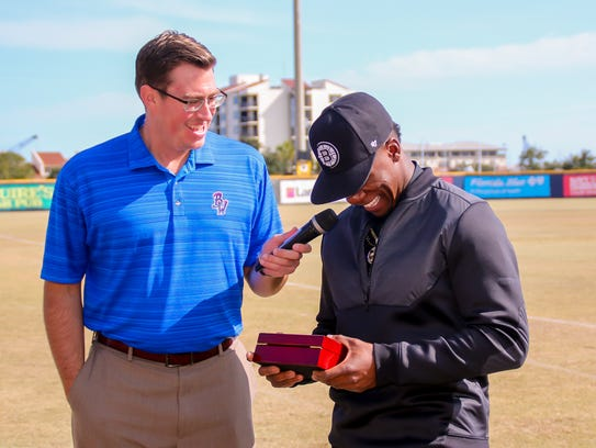 Tommy Thrall, Blue Wahoos media relations coordinator,