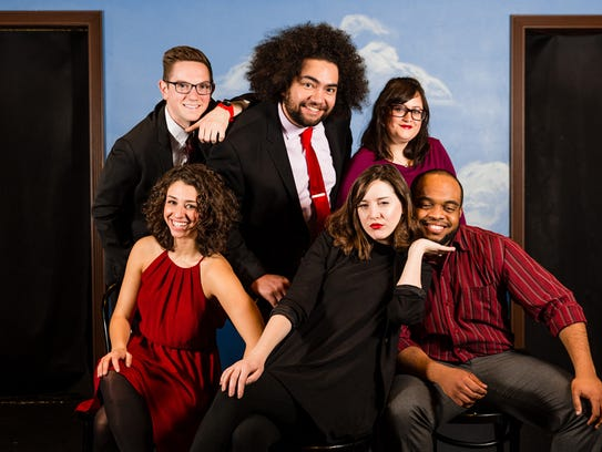 Second City is in Des Moines in April 2018. Top row