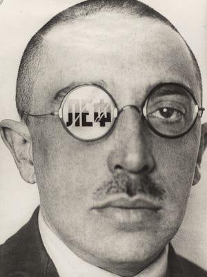 Critic Osip Brik; Alexander Rodchenko (Russian, 1891-1956); 1924; Gelatin silver print; 28.6 x 20.8 cm (11 1/4 x 8 3/16 in.).