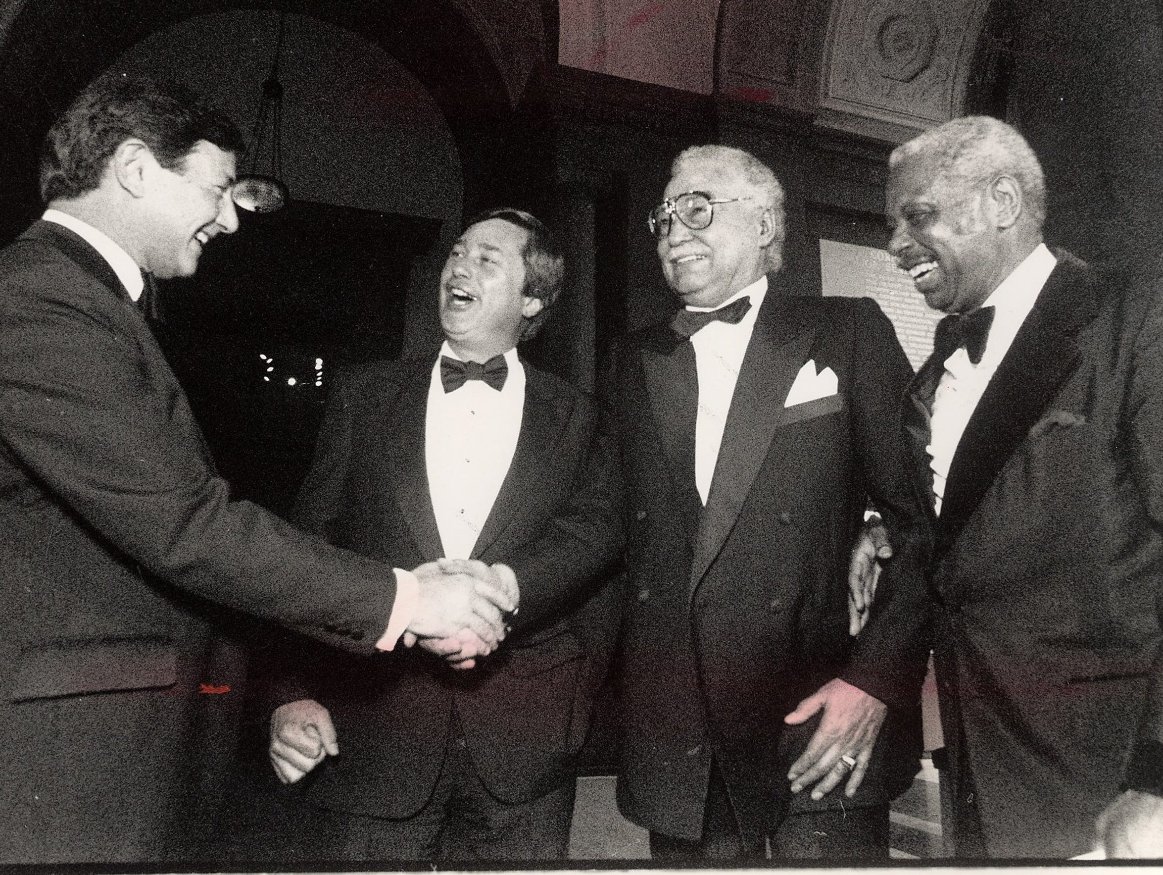 From left, DIA director Sam Sachs, Governor James Blanchard,