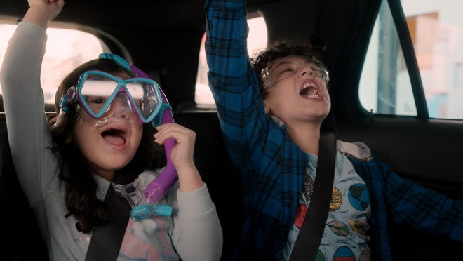 """Everly Carganilla, left, and Julian Lerner in a scene from """"Yes Day."""""""