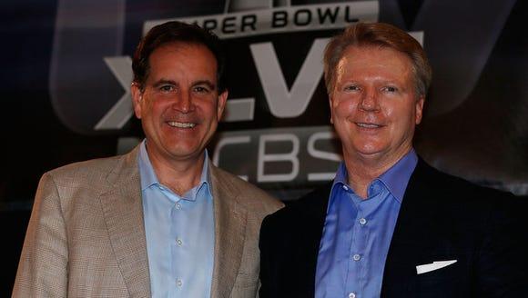CBS Sports' No. 1 announcing team, Jm Nantz (left)