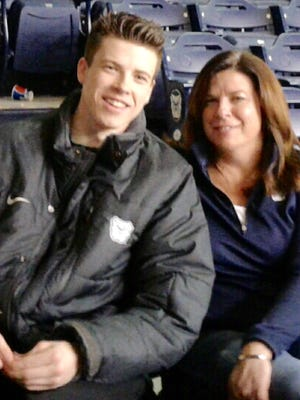 Butler's Sean McDermott with his mother, Kim.