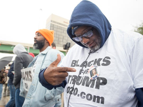 Trump supporter James McGhow, of Miami, Florida, is