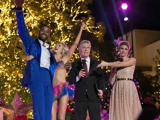 LINDSAY ARNOLD, CALVIN JOHNSON JR., TOM BERGERON, ERIN ANDREWS