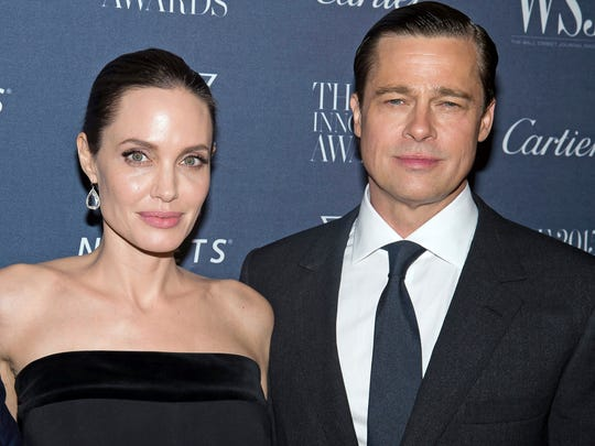 This Nov. 4, 2015 file photo shows Angelina Jolie Pitt and Brad Pitt at the WSJ Magazine Innovator Awards 2015 at The Museum of Modern Art in New York.