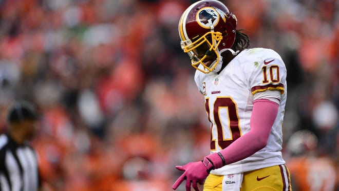 QB Robert Griffin III and the Redskins haven't had as much to be positive about in 2013.