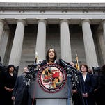 Marilyn Mosby announced criminal charges against all six officers suspended after Freddie Gray suffered a fatal spinal injury while in police custody.
