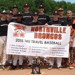 The Northville Broncos, a 14-and-under baseball team, recently completed a solid season by defeat the Diamonds Thunder Hitting Club, 5-0, to win the Lakeshore Panther Classic tournament in Holland. The Broncos went 3-0 in pool play while outscoring their opponents, 30-5. Team members include (front row, from left) Brendan Rudolph, Brendan Murrell, Saaz Malhotra, Nick Freiburger and Gannon VanRiper; (back row, from left) head coach Clint Smith, Christian Aulepp, Cole Smith, Josh Metz, Alex Garbacik, Zach Scoggins and assistant coach Frank Garbacik. (Not pictured are Owen Finkbeiner and Josh Anderson.)