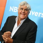 Jay Leno arrives at the NBCUniversal Summer TCA Tour at the Beverly Hilton Hotel on Thursday, Aug. 13, 2015, in Beverly Hills, Calif.