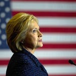 Democratic presidential candidate Hillary Clinton speaks during a rally on the campus of Simpson College, Thursday, Jan. 21, 2016, in Indianola, Iowa.