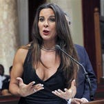 FILE - In this Aug. 15, 2014 file photo, actress Kate Del Castillo speaks during a news conference in City Council chambers in Los Angeles. Castillo breaks months of silence about her and Sean Penns controversial meeting with then-fugitive drug lord Joaquin El Chapo Guzman, saying Penns account of an encounter with a Mexican military checkpoint never happened. The Mexican-American actress speaks in a New Yorker article made available online Friday, March 11, 2016, after largely keeping out of the spotlight ever since Guzmans recapture and the publication of Penns article about the meeting.