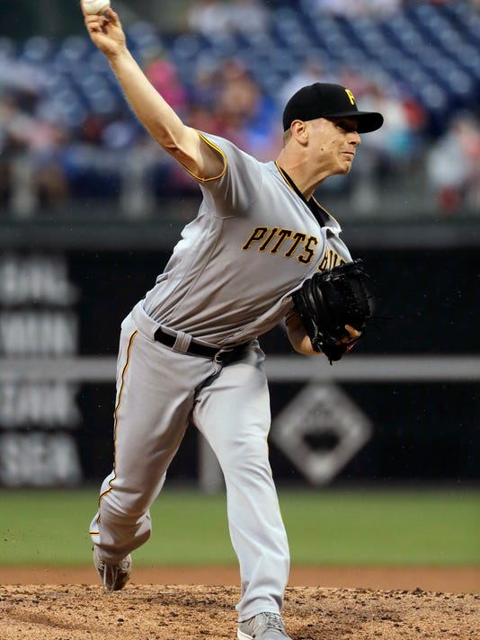 Pittsburgh Pirates' Chad Kuhl pitches during the second inning of the team's baseball game against the Philadelphia Phillies, Thursday, July 6, 2017, in Philadelphia. (AP Photo/Matt Slocum)