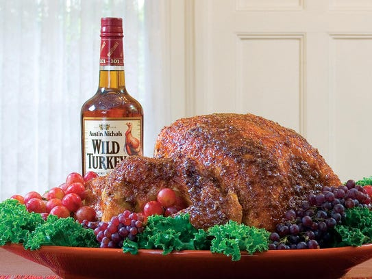 Bourbon-glazed turkey. Recipe courtesy of Wild Turkey.