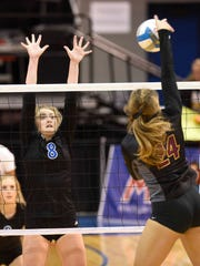 Birmingham Marian's Christine Audette (8) earned second-team All-State honors.
