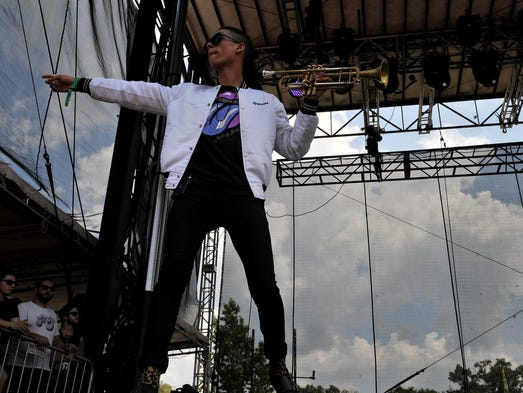 Capital Cities at the Bonnaroo Music  & Arts Festival on Sunday, June 15, in Manchester, Tenn.