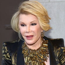 Joan Rivers was hospitalized Thursday after she was rushed from a doctor's office when she went into cardiac arrest, police and hospital officials said.