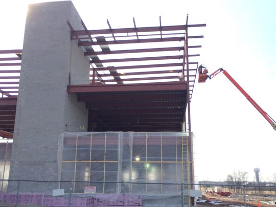 Construction is underway on the new Navitus Health Solutions building in Appleton.