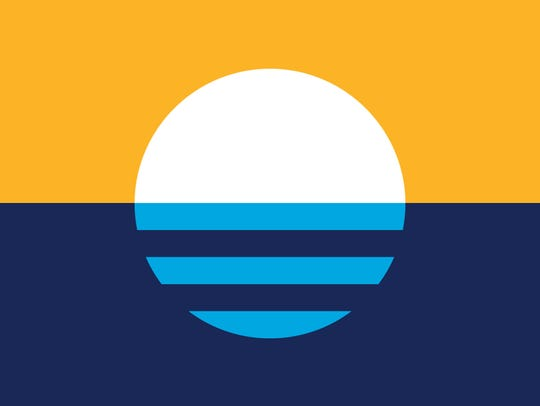 """Sunrise Over the Lake"" by Robert Lenz was selected as the city of Milwaukee's new, but still unofficial, flag, after a four-month-long contest in 2016."