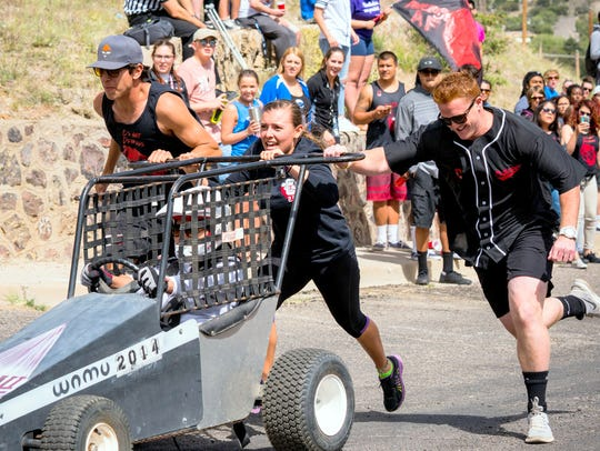 A team participates in this year's Great Race at Western