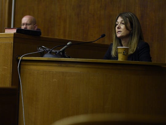 Jennifer Gonzales on the witness stand in Superior