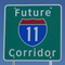 A sign designated the future path of Interstate 11 in Arizona.