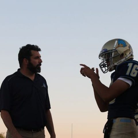 Phoenix Day School for the Deaf quarterback Cesar...