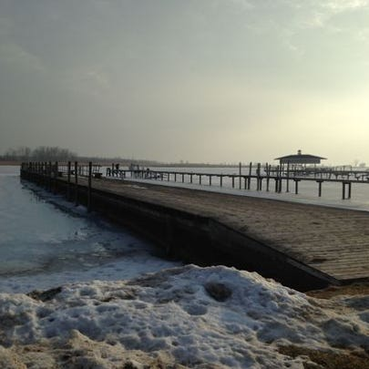 The Pearl Beach Pier stretches more than 300 feet into
