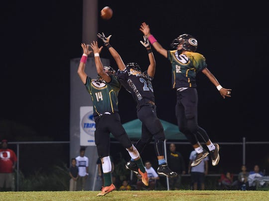 Hal's Angels took on the Guam Packers for the Triple J Guam National Youth Football Federation Matua division championship at Hal's Angels Field in Dededo on Nov. 4, 2017.