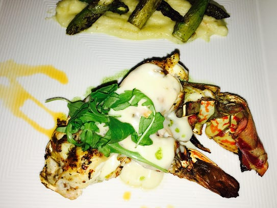 Spiny lobster at Kitchen 218 at Beach House