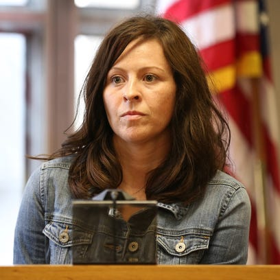 Job and Family Services caseworker Lauren Turley testifies