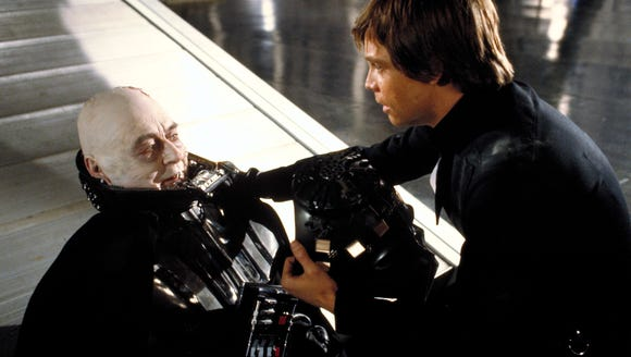 Darth Vader (Sebastian Shaw, left) finds redemption