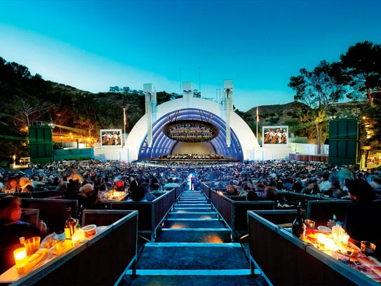 Here's a look at the Hollywood Bowl, the venue for
