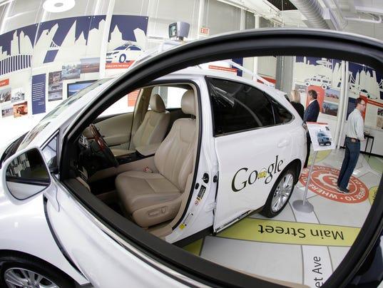AP Google's Driverless Cars