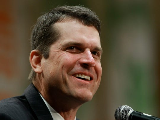 Jim Harbaugh in 2010 while at Stanford.