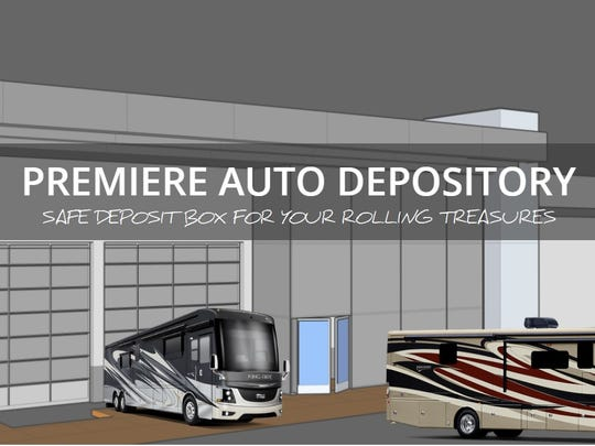 A rendering of Premiere Auto Depository, a business that plans to move into a renovated Burlington Coat Factory building in Cathedral City.