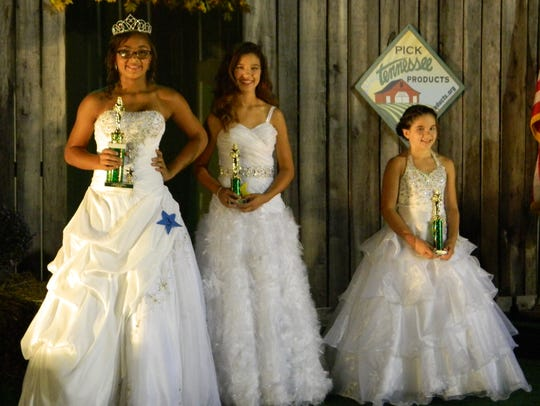 Hannah McDonough, left, won the Young Miss title, Gracie