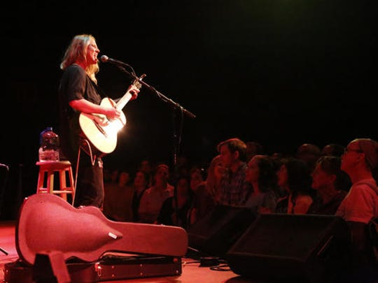 In this Oct. 5, 2016 photo, Lissie Maurus plays an