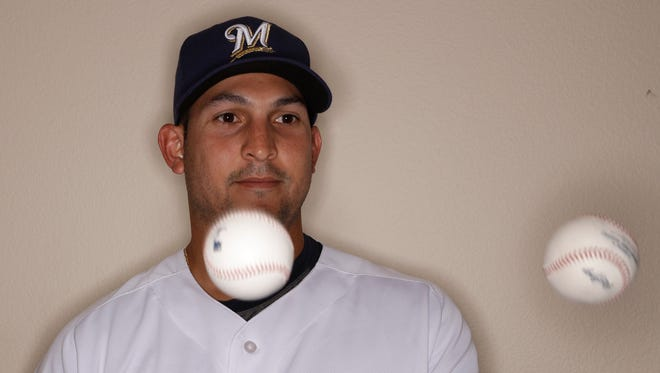 Paolo Espino will make his major-league debut for the Brewers vs. the Cubs on Friday.