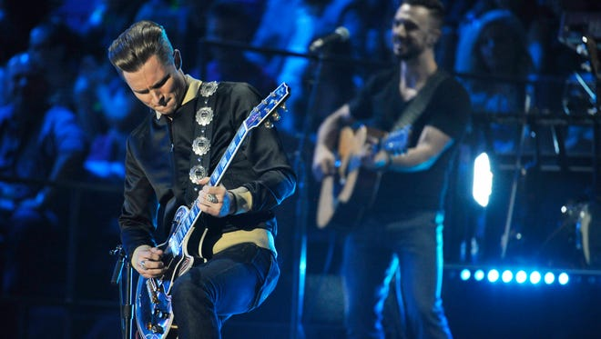 Frankie Ballard performs at the 2015 CMT Music Awards.
