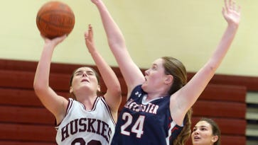 Eastchester defeated Harrison 65-62 in a girls varsity basketball game at Harrison High School Feb. 3, 2017.