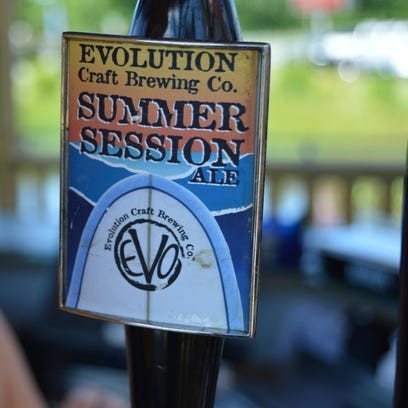Summer Session by Evolution Craft Brewery is on tap
