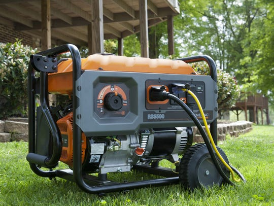 Portable generators must be operated a safe distance