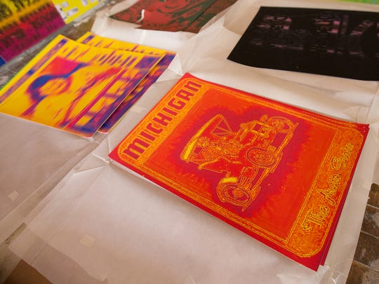 Detroit posters are used in Gary Simmons' site specific