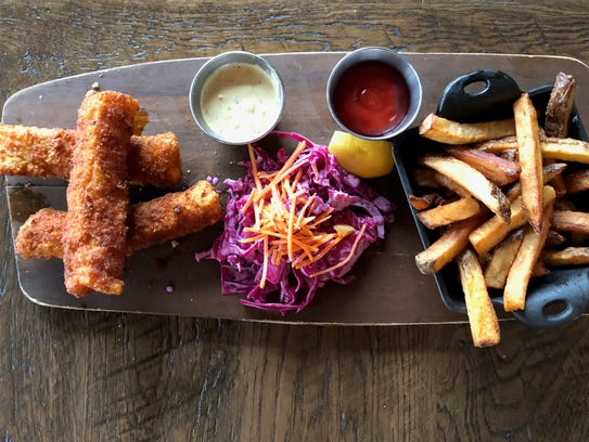 The Hot Fish & Chips are a must for lunch at The Honeysuckle.