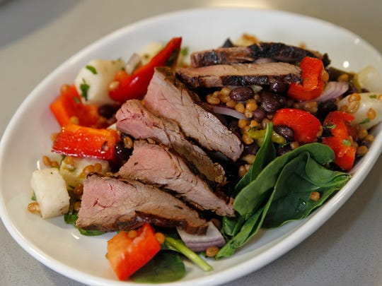 Southwest Wheat Berry Flank Steak Salad was one of